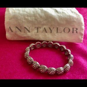 Silver Ann Taylor pave' bracelet